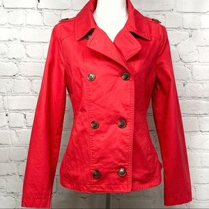 Gap women's spring 100% cotton red pea coat small